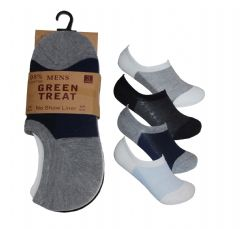 Mens 3 pair anti slip invisible socks